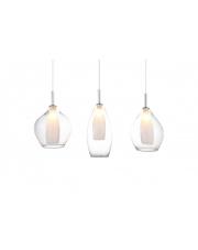 Lampa wisząca Amber Milano 3 A3075 AZzardo nowoczesna oprawa wisząca w stylu design w kolorze transparentnym