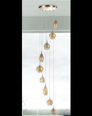 Lampa wisząca Amber Milano 9 AZ4014 AZzardo nowoczesna oprawa wisząca w stylu design