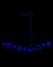 Lampa wisząca Sybilla AZ4404 AZzardo nowoczesna designerska oprawa wisząca
