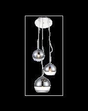 Lampa wisząca Silver Ball 3 AZ4750 AZzardo kulista chromowana oprawa wisząca