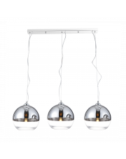 Lampa wisząca Silver Ball 3 line AZ4751 AZzardo kulista chromowana oprawa wisząca