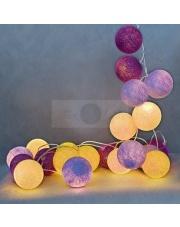 Kompozycja kolorowych kul LED Crocuses Cotton Ball Lights