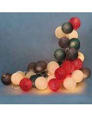 Kompozycja kolorowych kul LED Christmas Time Cotton Ball Lights