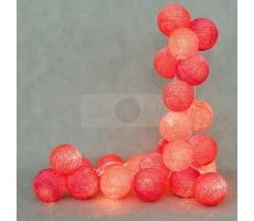 Kompozycja kolorowych kul LED Hot Cotton Ball Lights