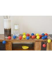 Kompozycja kolorowych kul LED Kids Cotton Ball Lights