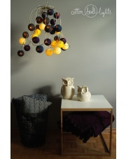 Kompozycja kolorowych kul Night Sky by pretty pleasure Cotton Ball Lights