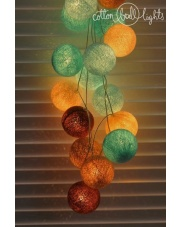 Kompozycja kolorowych kul paradise beach Cotton Ball Lights