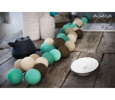 Kompozycja kolorowych kul Peppermint chocolate Cotton Ball Lights