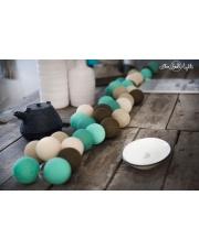 Kompozycja kolorowych kul LED Peppermint chocolate Cotton Ball Lights