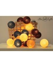 Kompozycja kolorowych kul LED Rolling Stones Cotton Ball Lights