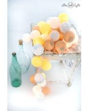 Kompozycja kolorowych kul Sky & sun Cotton Ball Lights