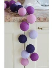Kompozycja kolorowych kul LED Violets Cotton Ball Lights