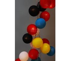 Kompozycja kolorowych kul Dala's Dream Cotton Ball Lights