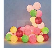 Kompozycja kolorowych kul Candy Cotton Ball Lights