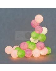 Kompozycja kolorowych kul Spring Cotton Ball Lights