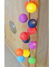 Kompozycja kolorowych kul Rainbow Cotton Ball Lights