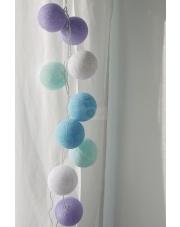 Kompozycja kolorowych kul Baby lavender Cotton Ball Lights