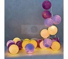 Kompozycja kolorowych kul Crocuses Cotton Ball Lights