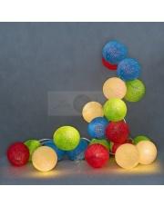 Kompozycja kolorowych kul Colorful Cotton Ball Lights