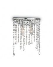 Kinkiet Rain Clear 008325 Ideal Lux stylowa kryształowa oprawa ścienna