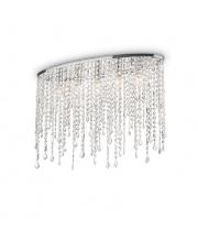 Plafon Rain Clear 008455 Ideal Lux stylowa kryształowa oprawa sufitowa