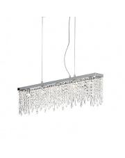 Lampa wisząca Giada Clear 098722 Ideal Lux stylowa kryształowa oprawa wisząca