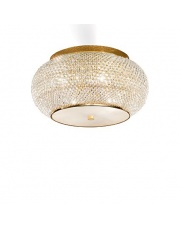 Plafon Pasha PL6 Ideal Lux kryształowa stylowa oprawa sufitowa