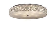 Plafon Roma 087870 Ideal Lux stylowa kryształowa oprawa sufitowa