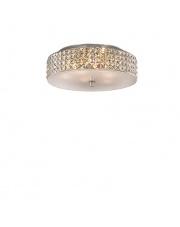 Lampa Roma 000657 Ideal Lux stylowa kryształowa oprawa sufitowa
