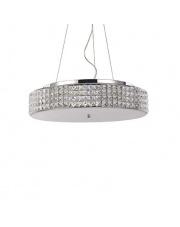 Lampa wisząca Roma 093048 Ideal Lux stylowa kryształowa oprawa wisząca