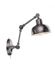 Lampa ścienna GRIMSTAD 105052 Markslojd industrialny kinkiet z wysięgnikiem w srebrnym antycznym kolorze