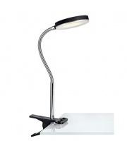 Lampa biurkowa FLEX 106471 Markslojd czarna ledowa lampka z klipsem elastyczna z chromowym wykończeniem