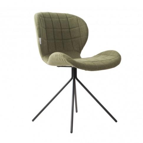 Krzesło OMG 1100172 Zuiver nowoczesne krzesło zielona
