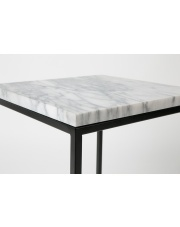 Stół SIDE TABLE MARBLE POWER 2300061 Zuiver kwadratowy stolik z marmuru