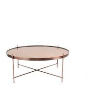 Stół CUPID XXL COPPER 2300050 Zuiver okrągły miedziany stolik w extra dużej wersji