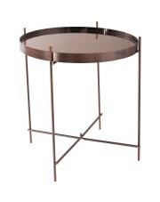 Stół CUPID COPPER 2300038 Zuiver okrągły miedziany stolik z lustrzanym blatem