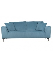 Sofa DRAGON 3-SEATER RIB BLUE 3200001 Zuiver trzyosobowa sofa z obiciem w kolorze niebieskim