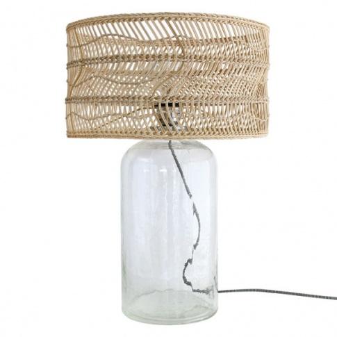 Lampy stołowe o szklanych podstawach – must have każdego